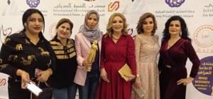 وداد البدوي مع صحفيات عربيات